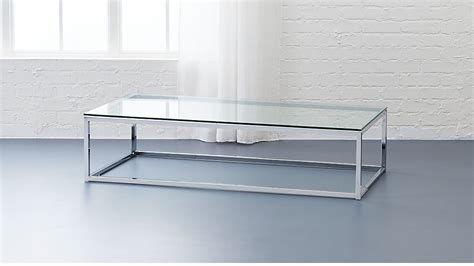 Couchtisch Chrom Glas by Smart Glass Chrome And Glass Coffee Table Reviews Cb2