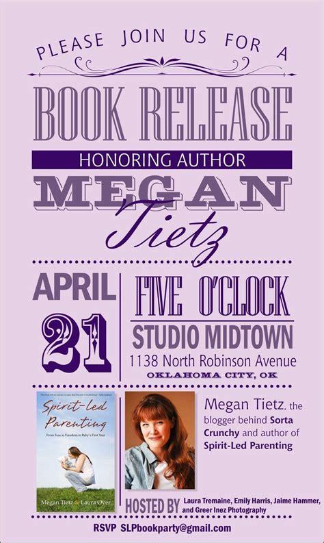 super cute book release party invite marketing stuff