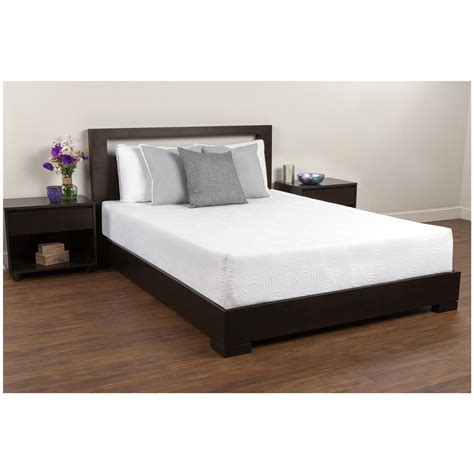 mattress bed frame comfort revolution 174 10 quot memory foam mattress 623586