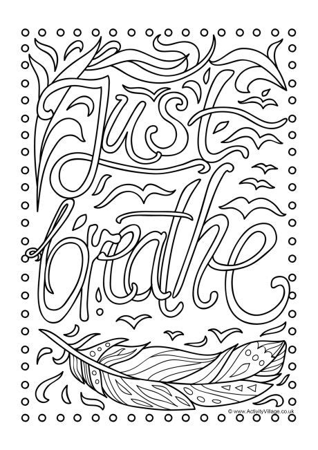 breathe colouring page