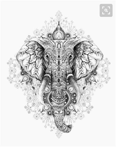 ideas  mandala elephant  pinterest