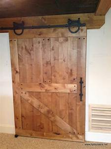 Barn style door traditional interior doors for Barn door type interior doors