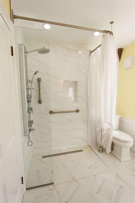 showers curtains  walk  shower  pinterest
