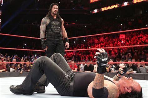 wwe legend  undertaker facing retirement  roman