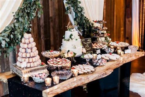 delightful wedding dessert display  table ideas