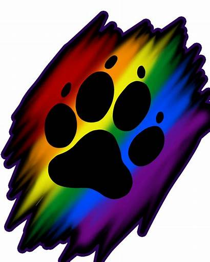 Rainbow Clipart Paw Pawprint Transparent Webstockreview Artworktee