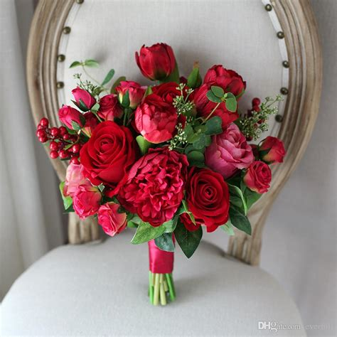 Western Style Artificial Wedding Flowers Bridal Bouquets