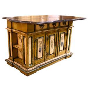 tuscan kitchen islands tuscany painted grapes kitchen island