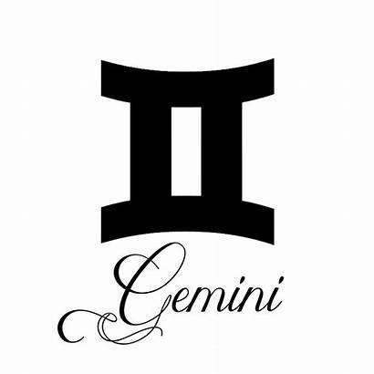 Gemini Zodiac Sign Silhouette Decal Writing Sticker