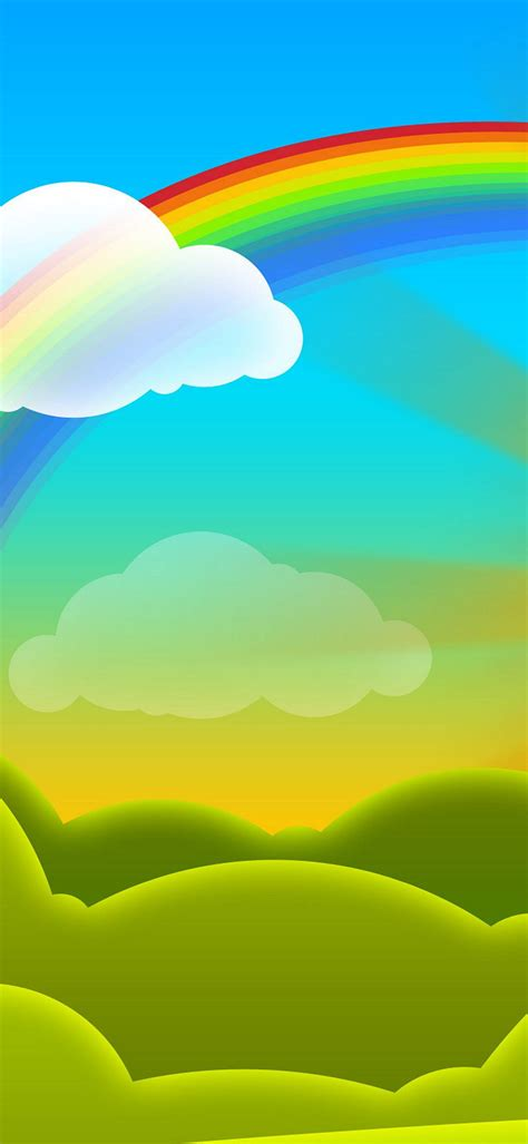 rainbow vector cartoon wallpaper
