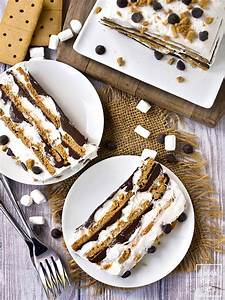 No-Bake S'mores Icebox Cake (GF/DF) - Iowa Girl Eats