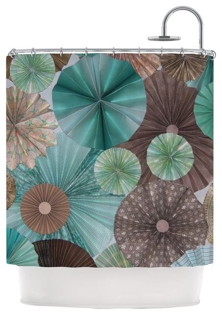 turquoise and brown shower curtain heidi quot atlantis quot teal brown shower curtain