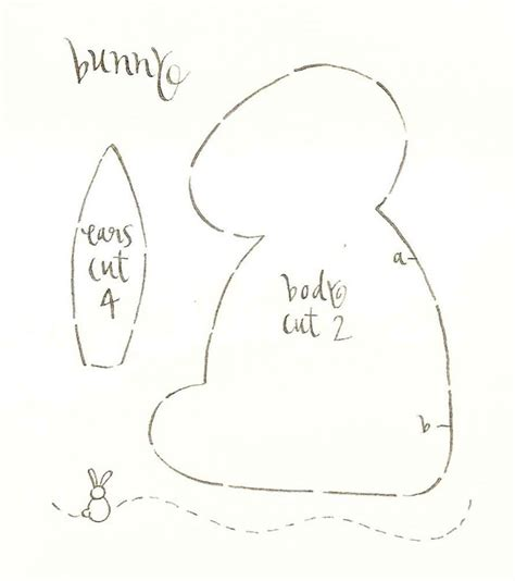 Bunny Template For Sewing by Easter Bunny Pattern Prairie Mouse