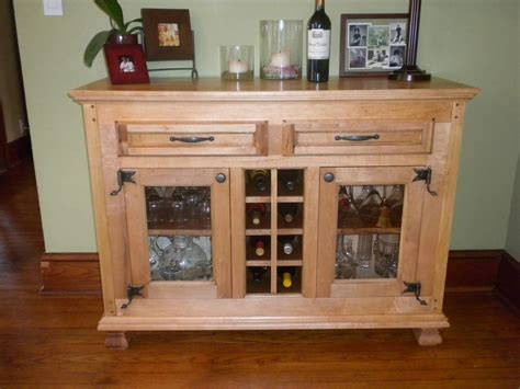Kitchen Sideboard Hutch by Handmade Wine Buffet Cabinet By Dmansell Creative Rustic