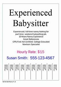 Babysitter Flyer Sample Babysitting Quotes For Flyers Quotesgram