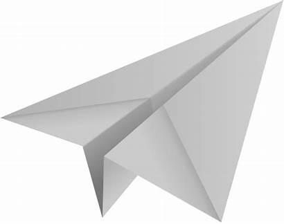 Paper Plane Airplane Gray Icon Aeroplane Vector