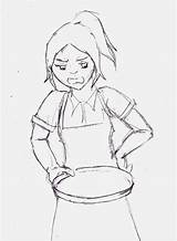 Waitress Drawing Getdrawings Drawings sketch template
