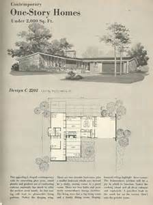 1960s House Plans by Vintage House Plans 1960s Homes Mid Century Homes For