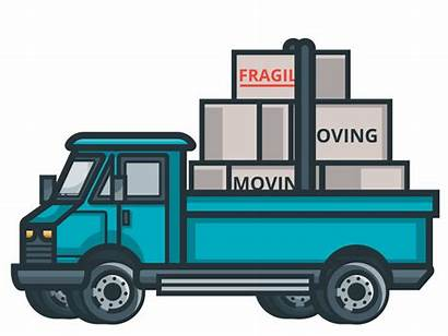 Moving Truck Packing Boxes Animated Move Legal