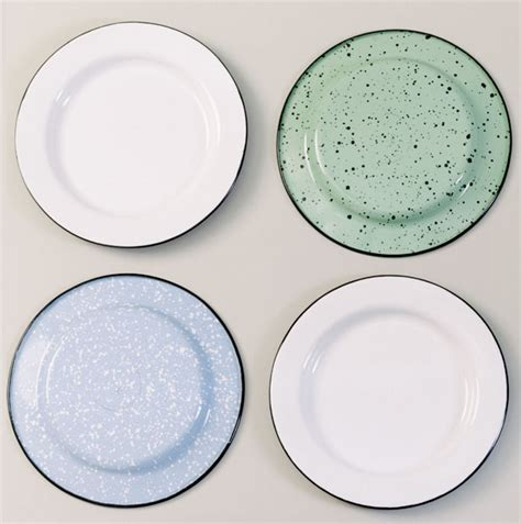enamel dinnerware porcelain plates light dishes barnlightelectric barn electric enamelware comes sets bowls cups farmhouse camping beautifully joy colored designed