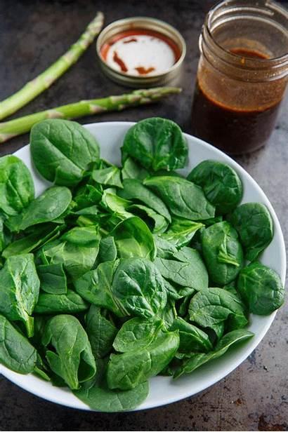 Asparagus Goat Cheese Salad Avocado Spinach Roast