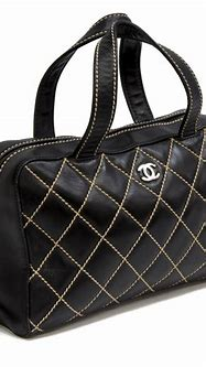 CHANEL WILD STITCH QUILTED BLACK LEATHER HANDBAG - Fall ...