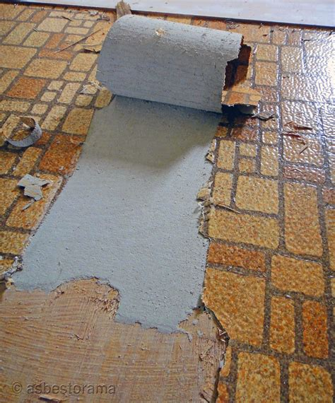 asbestos backing  vintage sheet flooring view