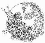 Coloring Adults Pages Fantasy Printable Fairy Sheet Popular sketch template