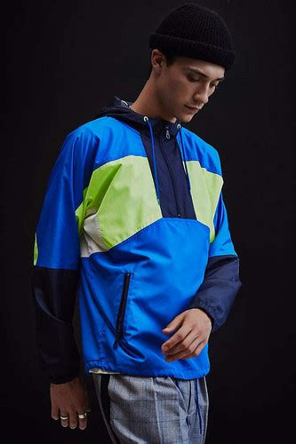 uo  colorblocked anorak windbreaker jacket fsociety pakistan