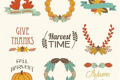 Thanksgiving Clip Fall Autumn Clipart Elegant Elements