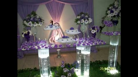 decoracao de casamento branco  lilas youtube
