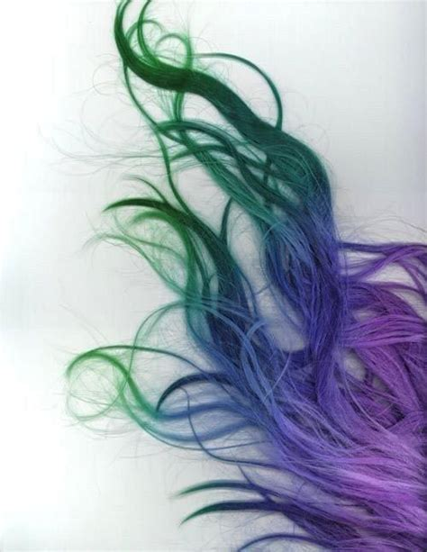 Green Blue And Purple Ombre Hair Pictures Photos And