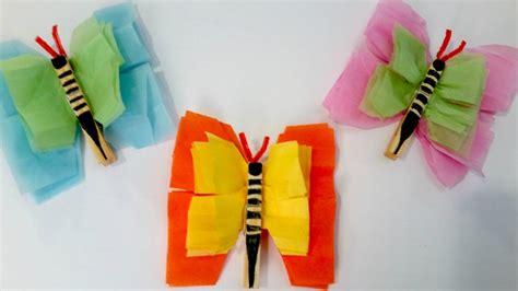 tissue paper butterflies easy summer craft  kids