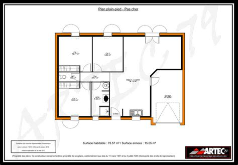 plan maison 100m2 plein pied 3 chambres simple maison plain pied 100m2 with maison plain pied 100m2