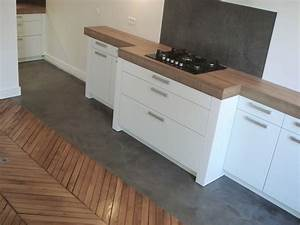 Crédence Béton Ciré : 3dco credence cuisine b ton cir cucina kitchen cabinets flooring home decor ~ Mglfilm.com Idées de Décoration