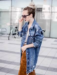Oversize jeansjacke