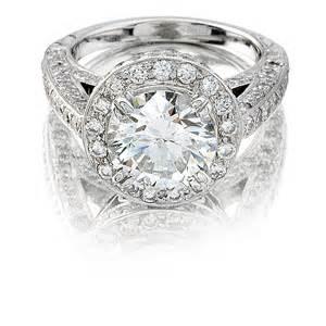 natalie k antique style platinum halo engagement ring setting - Platinum Engagement Ring Settings