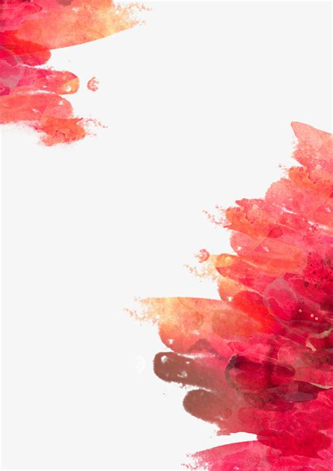 Red Watercolor Painting Background, Red, Watercolor, Warm