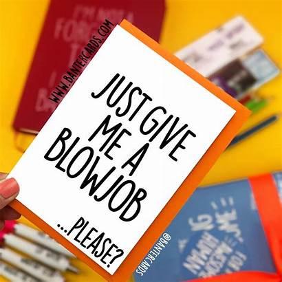 Give Blowjob Please Plain Fb Card Cards