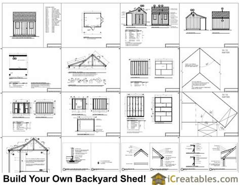 10x12 shed material list 10x12 colonial shed with porch plans icreatables sheds