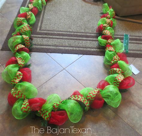 how to make mesh garland with lights diy holiday garland using deco mesh holiday decor series