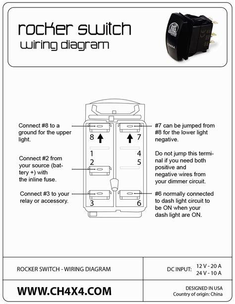 lighted rocker switch wiring diagram kcd4 rocker switch