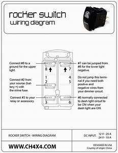 Lighted Rocker Switch Wiring Diagram Kcd4 Rocker Switch