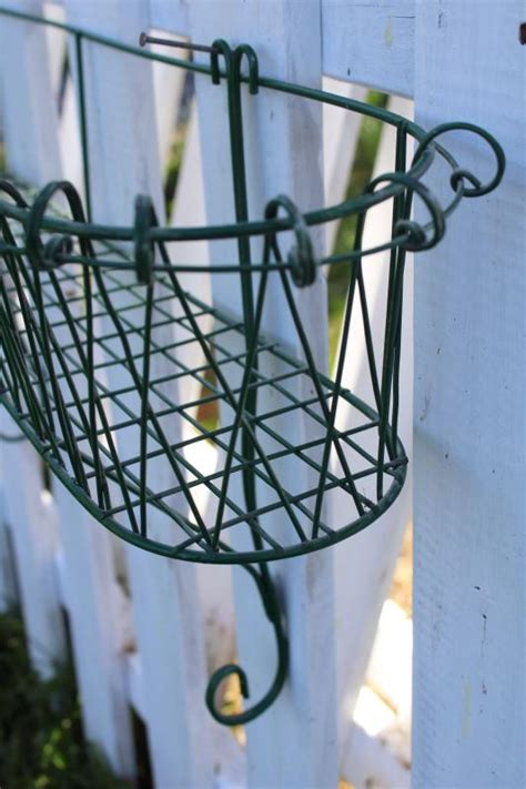 vintage french style wrought wire work window box garden wall mount plant  flower basket
