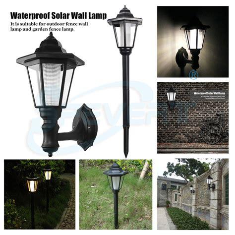 outdoor solar fence lights solar powered led outdoor garden wall light mount lantern 3880