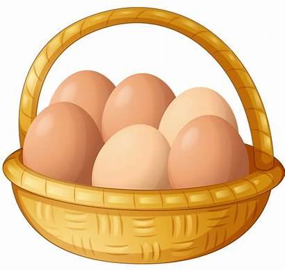 Egg Basket Clipart Clip Chicken Eggs Cartoon