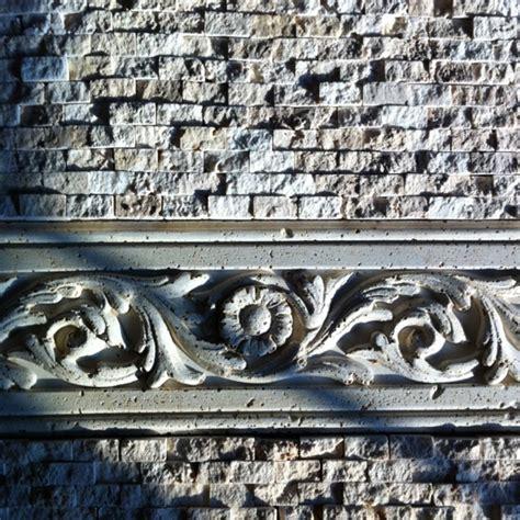 split travertine tile backsplash