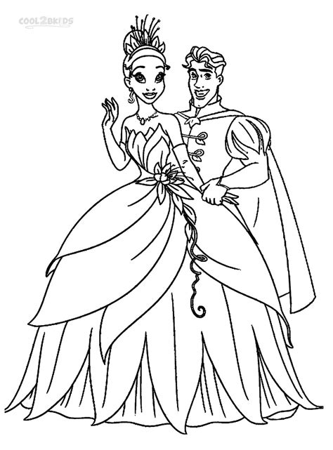 princess   frog coloring pages    print