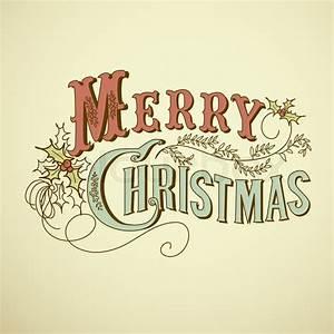 Merry Xmas Schriftzug : vintage weihnachtskarte frohe weihnachten schriftzug vektorgrafik colourbox ~ Buech-reservation.com Haus und Dekorationen