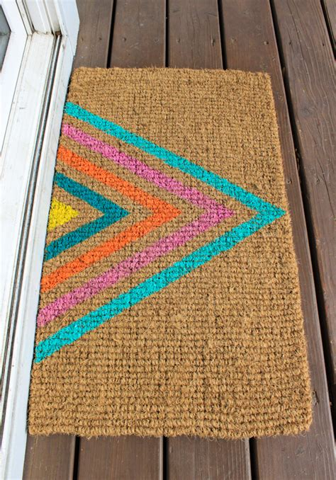playful diy doormats  crafted life
